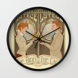 Lutece Twins Nouveau Wall Clock