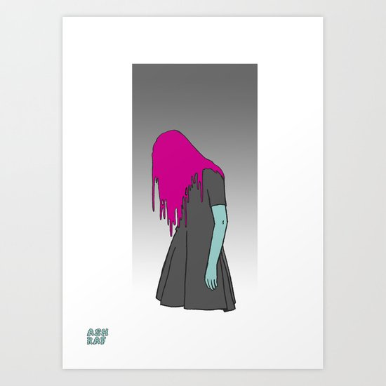 Black Grunge Art Print