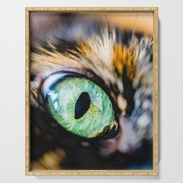 Emerald Cat Eye Photo Serving Tray