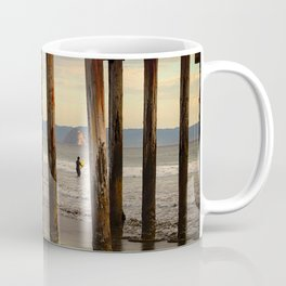 Looking Deeper Morro Bay through Cayucos Pier Coffee Mug