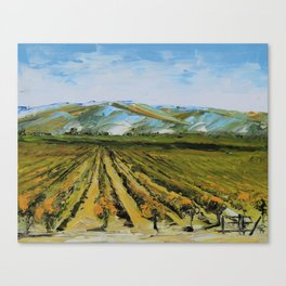 Colors of Napa Valley ll by Lisa Elley, Palette Knife Painting in oil. Canvas Print