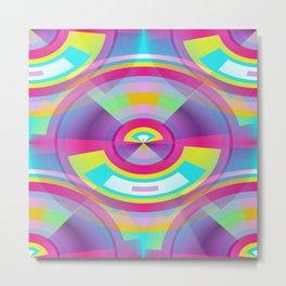 Pop Art Sphere Metal Print