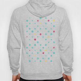 LOTS OF DOTS / prussian blue / turquoise green / deep red / yellow Hoody