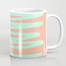 Sweet Life Soft Serve Peach Coral + Mint Meringue Coffee Mug