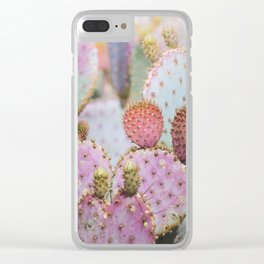 Cotton Candy Cacti Clear iPhone Case