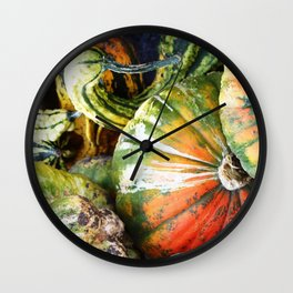 Squashed Together Wall Clock