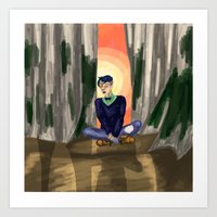 Raising Son Art Print