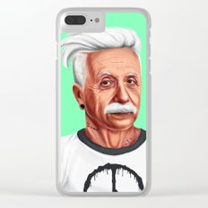 Hipstory -  Albert Einstein Clear iPhone Case