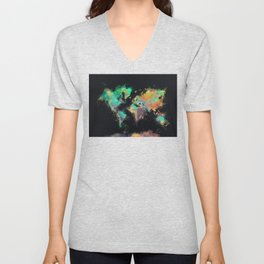 world map 107 #worldmap #map Unisex V-Neck