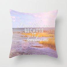 I Need the Sea  Throw Pillow