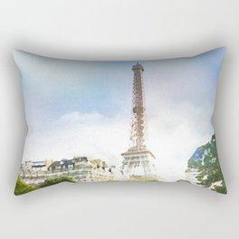 Paris in watercolor Rectangular Pillow