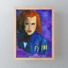 Dana Scully FBI Dark Blue Framed Mini Art Print