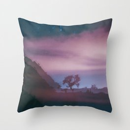 dreamy Joshua Tree at night Throw Pillow