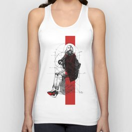 Red Lines. T. Golden Ratio. Baphomet. Yury Fadeev Unisex Tank Top