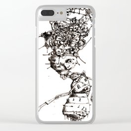 Roller bot Clear iPhone Case