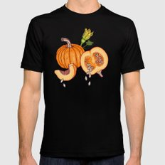 Pumpkin night life Pattern Black MEDIUM Mens Fitted Tee