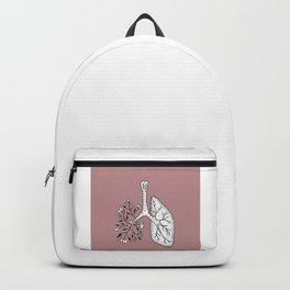 Floral Lung Illustration — Half Floral Human Lung Anatomy Design Backpack