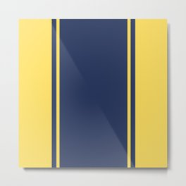 Yellow and Blue Pattern Metal Print