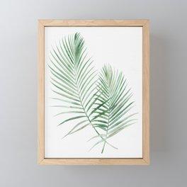 Twin Tropical Palm Fronds - Emerald Green Framed Mini Art Print