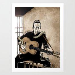 Folsom Prison Blues Art Print