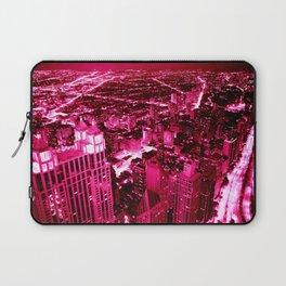 Chicago Skyline Hot Pink Laptop Sleeve