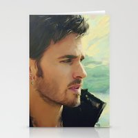 captain hook Stationery Cards featuring Captain Hook by Alba Palacio