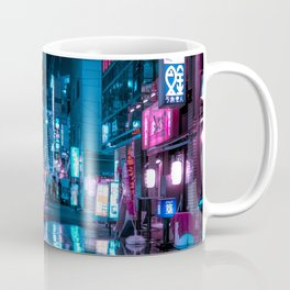 Cyberpunk Aesthetic in Tokyo at Night Vertical Coffee Mug