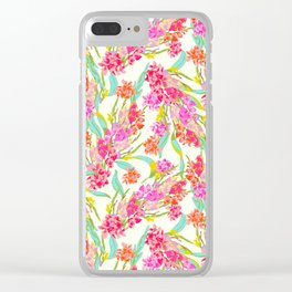 Spring Blossoms by UKULELE® Clear iPhone Case