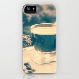 Coffee break in the Lavender Time iPhone Case
