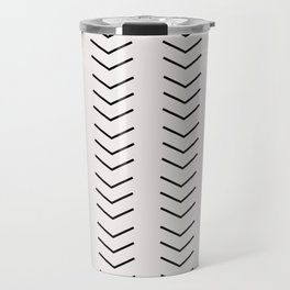 mudcloth pattern white black arrows Travel Mug