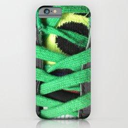 Green shoe laces iPhone Case