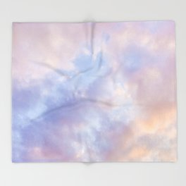 Pink sky / Photo of heavenly sky Throw Blanket