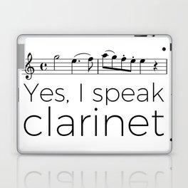 I speak clarinet Laptop & iPad Skin
