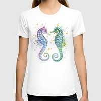 seahorse T-shirts featuring Seahorse by Sam Nagel