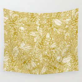 forest floor gold ivory Wall Tapestry