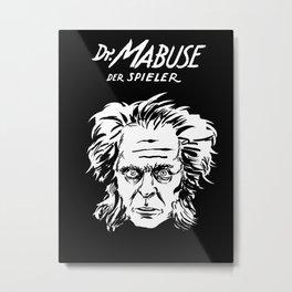 Dr. Mabuse, der Spieler Metal Print