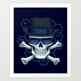Chemical head Art Print
