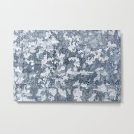 Camouflage Print Cool Blue Paint Texture Surface 47 Metal Print