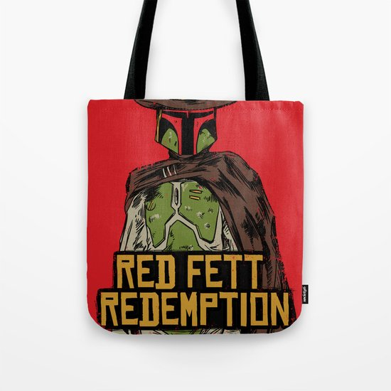 Red Fett Redemption Tote Bag