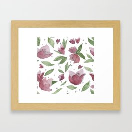 jacarandas pattern Framed Art Print
