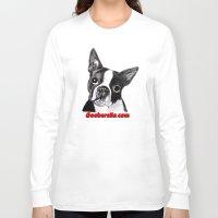 boston terrier Long Sleeve T-shirts featuring Boston Terrier by Gooberella