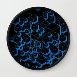 3D Futuristic Cubes Wall Clock