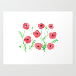 Poppies on a Field Art Print