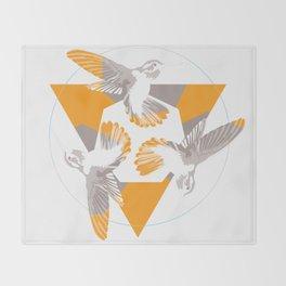 Humming Birds Throw Blanket