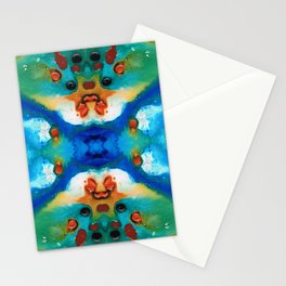 Grace - Colorful Art by Sharon Cummings Stationery Cards