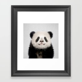 Panda Bear - Colorful Framed Art Print