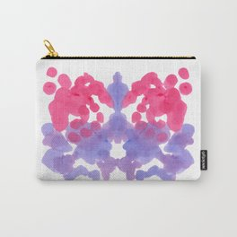 Rorschach Inkblot Diagram Psychology Abstract Symmetry Colorful Watercolor Art Red Blue purple Carry-All Pouch