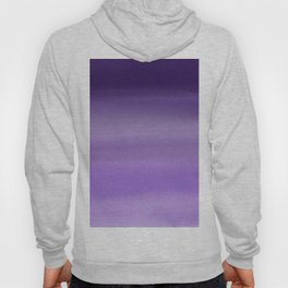 Modern painted purple lavender ombre watercolor Hoody