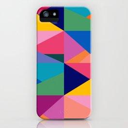 Geometric Color Block iPhone Case