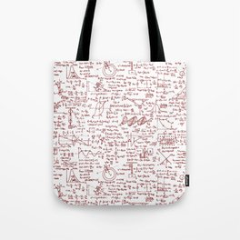 Physics Equations in Red Pen Tote Bag